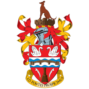 Staines Town's club badge